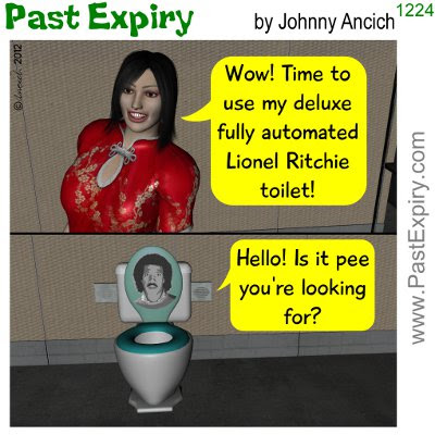 Cartoon about bathroom, music, spoof,