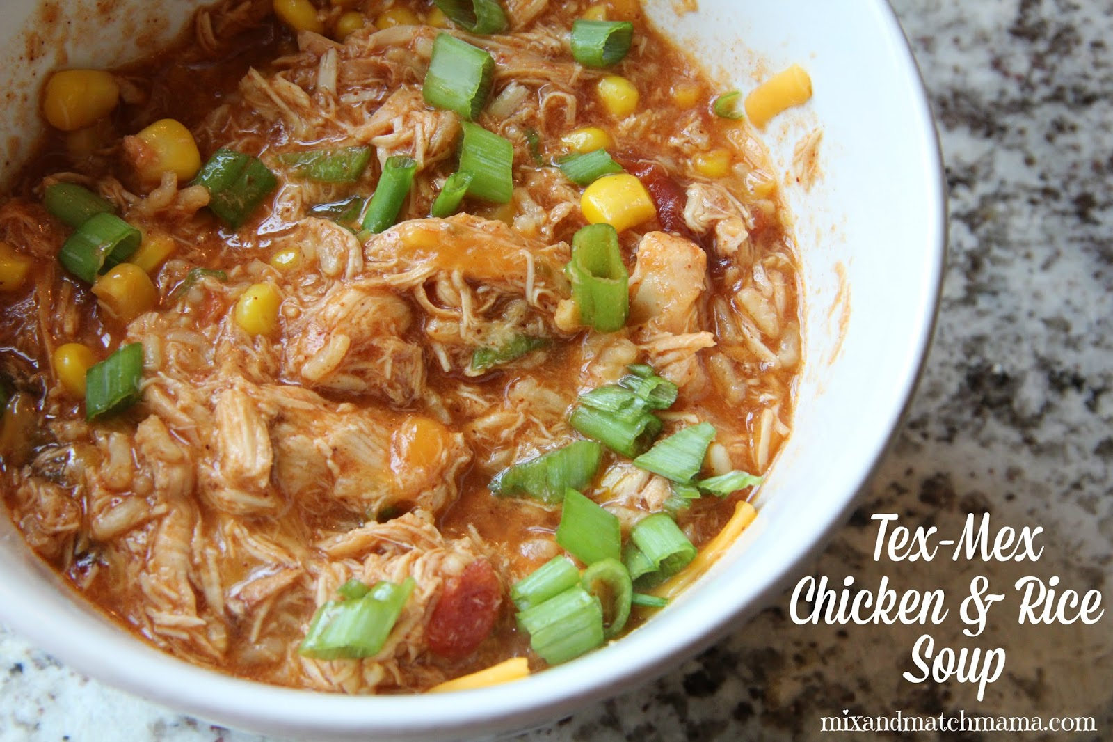 Mix and Match Mama: Dinner Tonight: Tex-Mex Chicken and Rice Soup