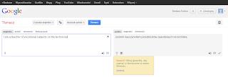 Tłumaczenie wyrazu przez translator google