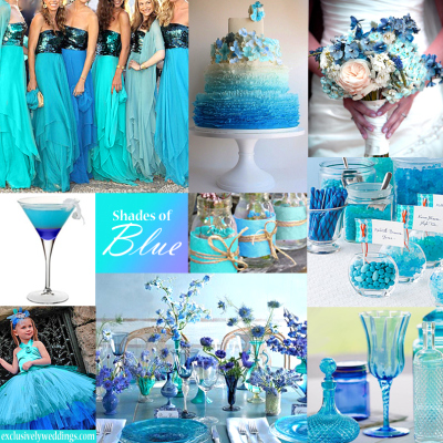 TURQUOISE WEDDING COLOR - CHECK THESE COMBINATIONS