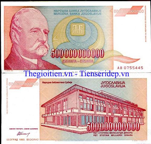 tiền nam tư 500 tỷ Dinara