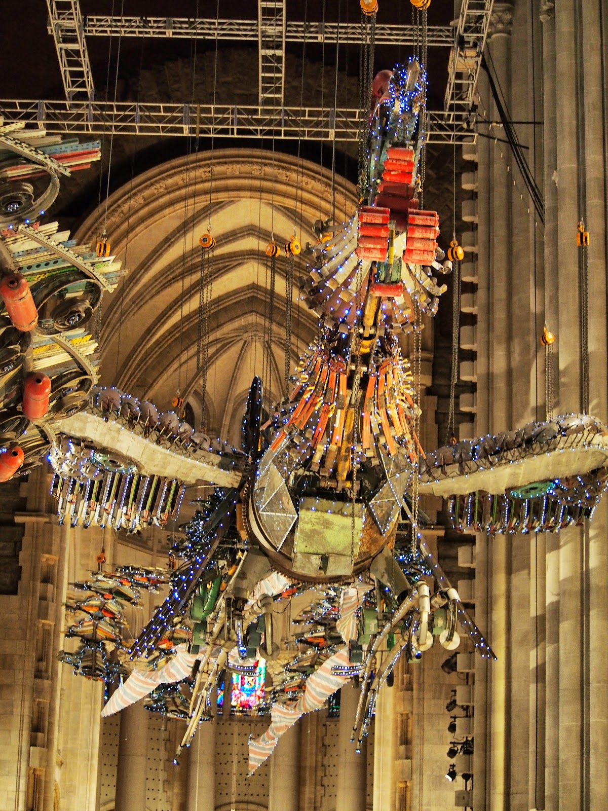 Huang #Huang #phoenix #xubing #stjohnthedivinecathedral #art #nyc ©2014 Nancy Lundebjerg