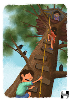 tree, tree house, kids.sayantan halder