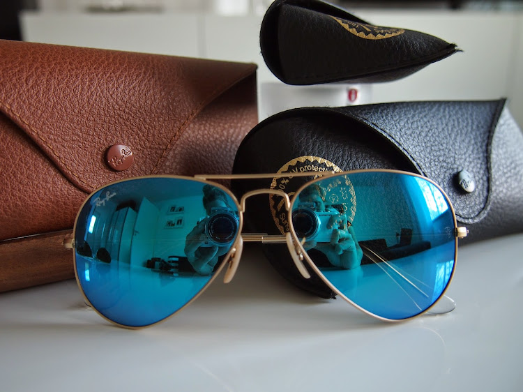 Ray Ban blue mirror
