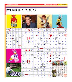 Solución del Dominigrama Familiar del domingo 15 de mayo del 2011<br />