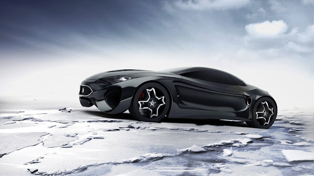 Black Jaguar Concept Car