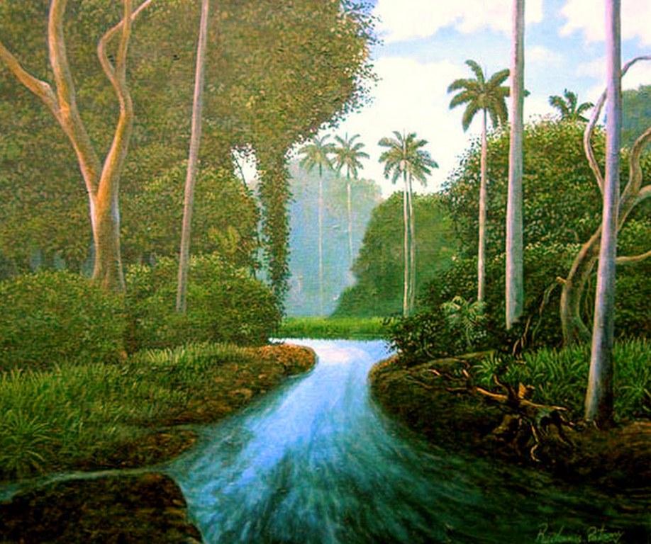 Pinturas cuadros lienzos paisajes comerciales naturales - Acrilico sobre lienzo ...