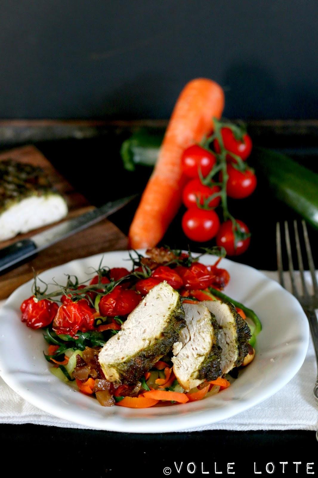 Pesto, Hähnchen, Tomate, Spaghetti, Dishstorm, Pestogate, Pestostorm