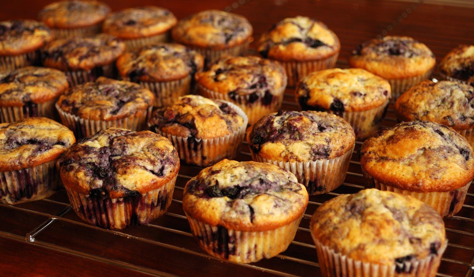 banan muffins med blåbær