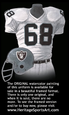 Oakland Raiders 1980 uniform