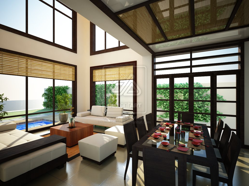 Japanese interior design house and home for Asian interior design