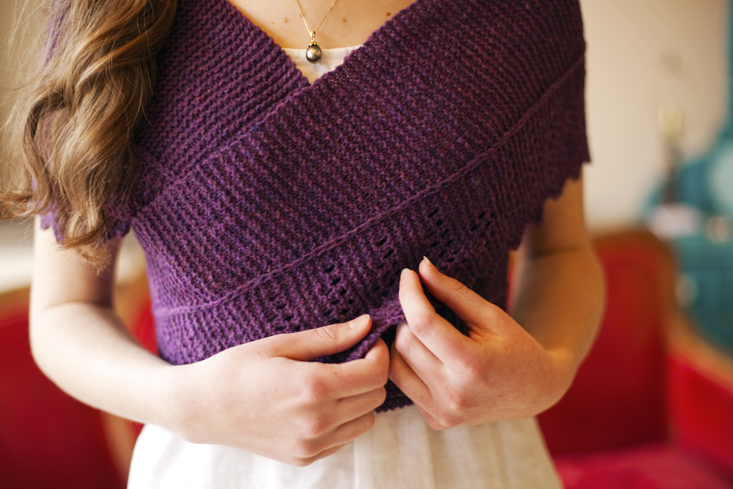 Slate Falls Press: Margaret Dashwood Shawl~ Jane Austen Knits