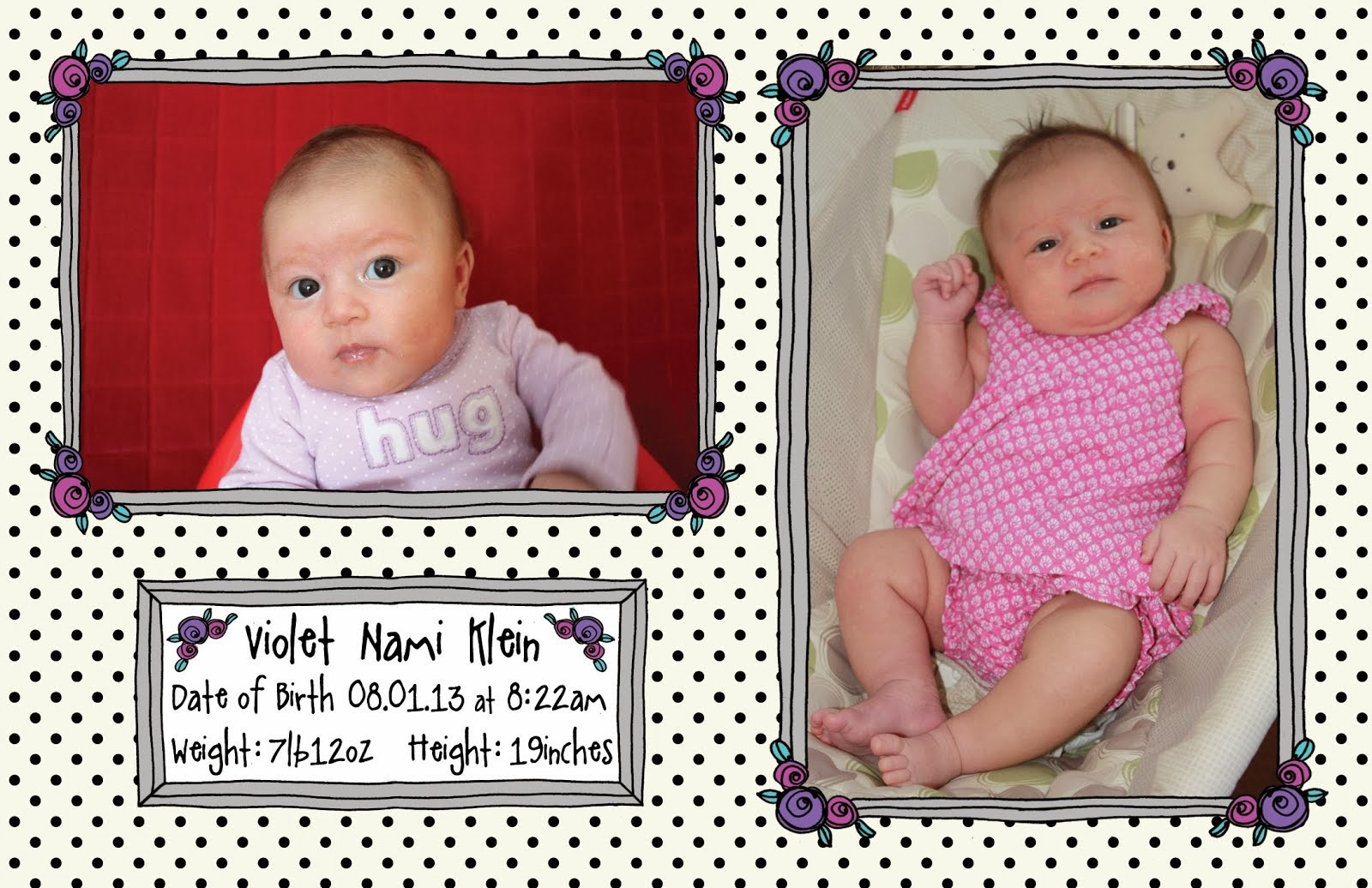 Violet's Birth Announcement