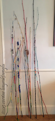 wrapped and decorated sticks