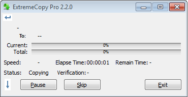 ExtremeCopy Pro 2.2.0 Final Full Serial - Screenshot