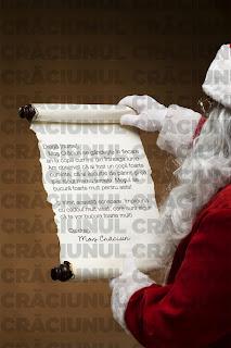 MODEL Scrisoare de la Moş Crăciun