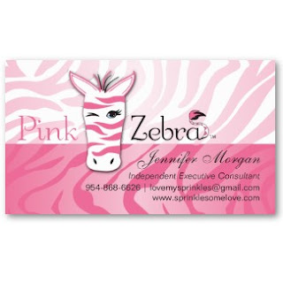 Business card showcase by socialite designs pink zebra business cards the business cards have the pink zebra logo home fragrance products company incorporated with our background design and template layout colourmoves