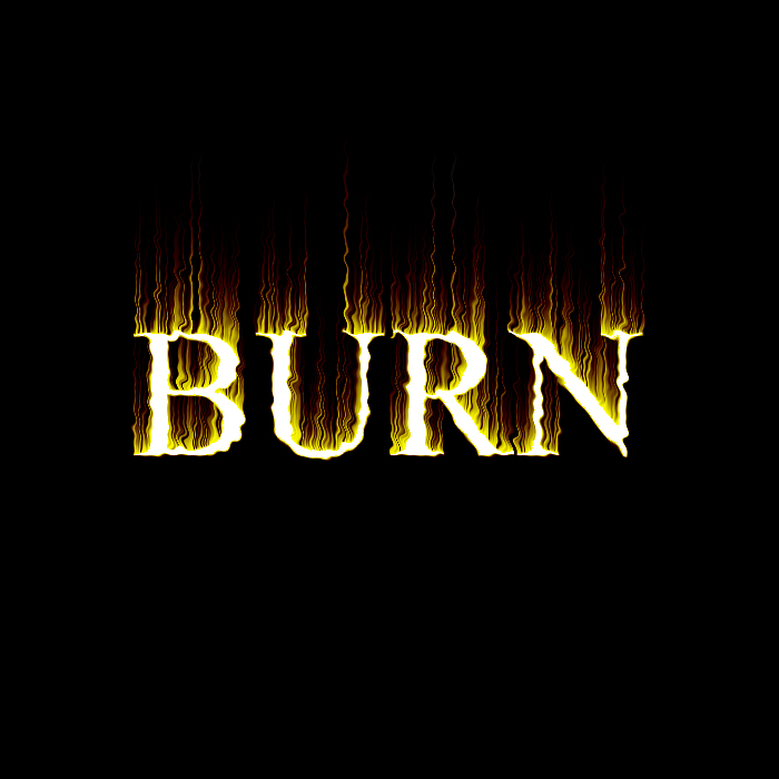 Flaming burning text - photoshop tutorial