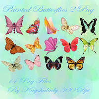 Painted butterfliues PNG tubes