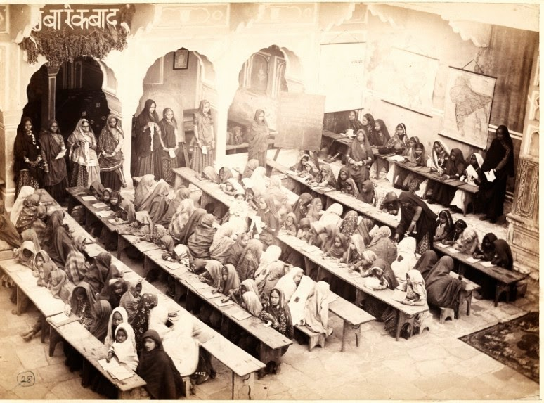 Girls School in Jaipur, Rajasthan - c1870-80's