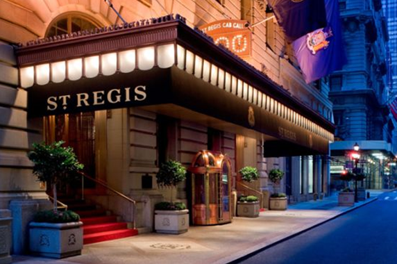 photo of bentley suite at st regis hotel in manhattan new york exterior