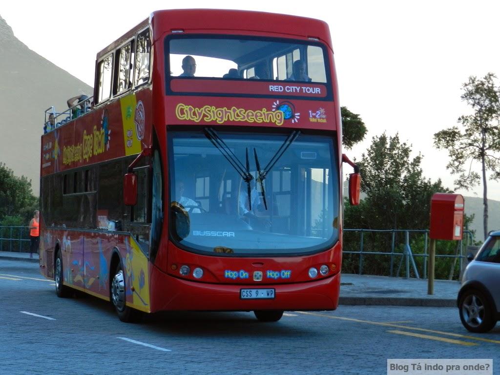 ônibus hop-on, hop-off na Cidade do Cabo