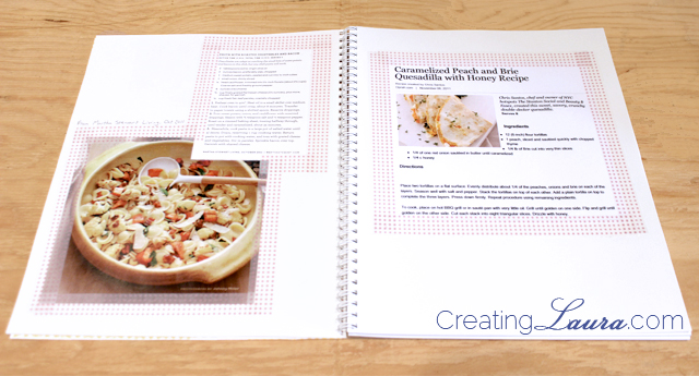 Creating laura diy washi tape recipe notebook with free printable i found that most printouts from websites will already have the recipe source printed somewhere on the page like the caramelized peach and brie quesadilla forumfinder Image collections
