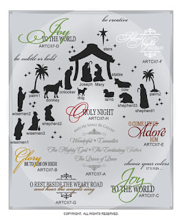 Image Christmas vinyl nativity decal