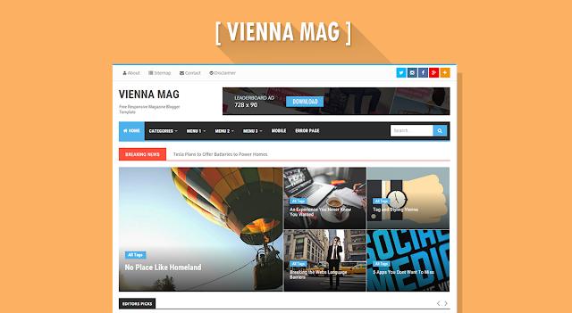 Vienna Mag Responsive Magazine Template