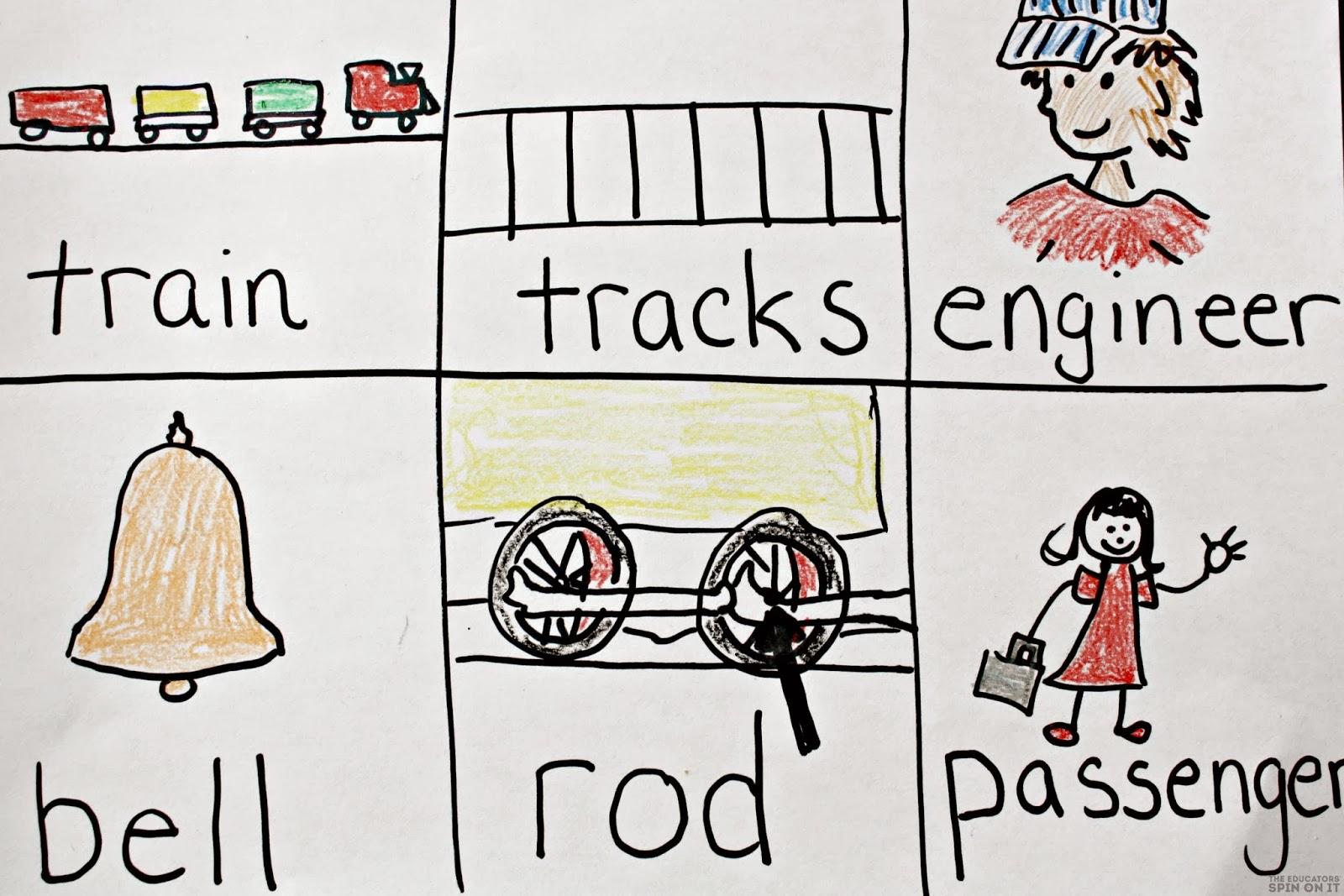 Train Themed Words