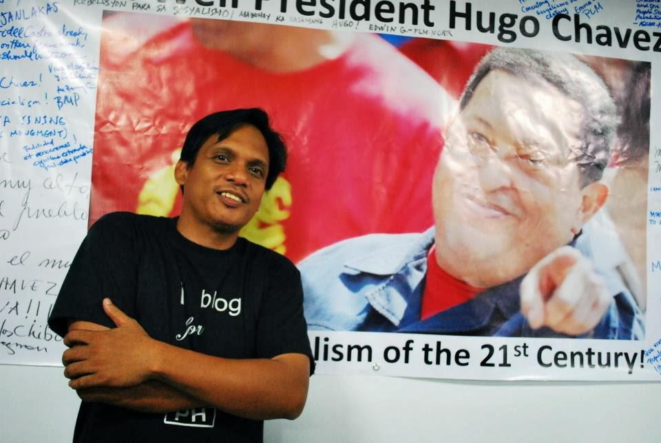 with Hugo Chavez pic