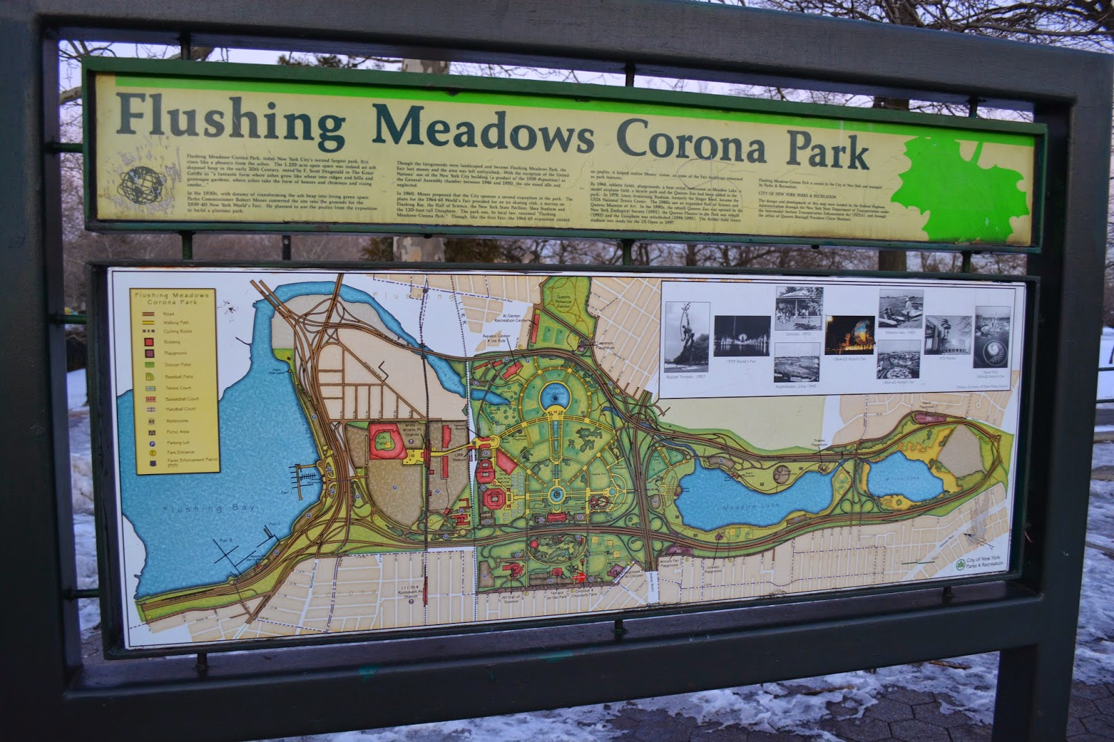in fact even a map located outside of the park makes no indication of its existence