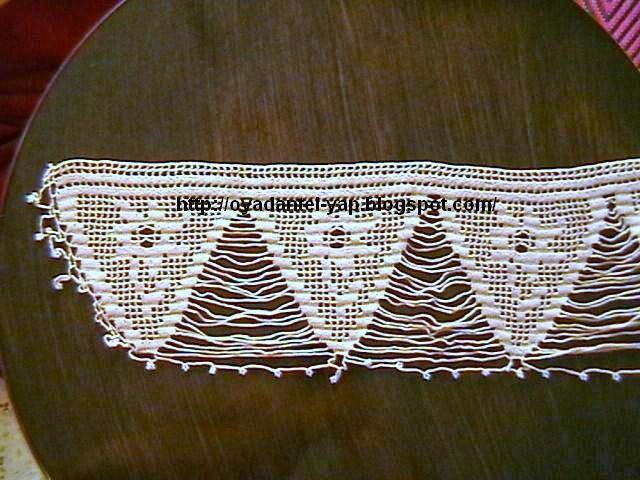 geniş dantelli havlu kenarı