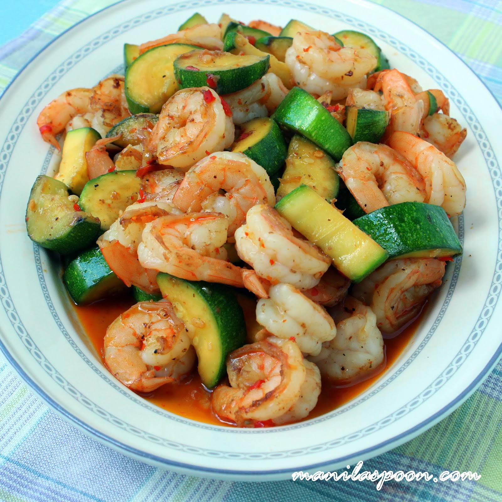 Sweet and Spicy Shrimp and Zucchini Stir-Fry | Manila Spoon