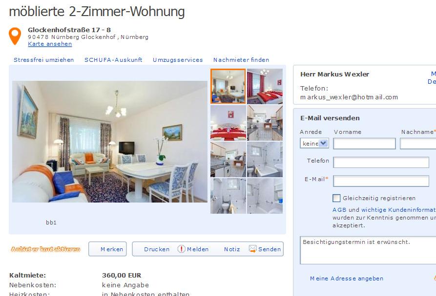Andreas hofer stra e 82 79111 freiburg st georgen for 2 zimmer wohnung nurnberg