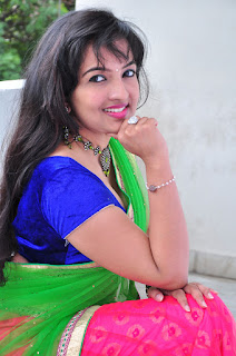 New actress Roshini half saree Picture shoot 013.jpg
