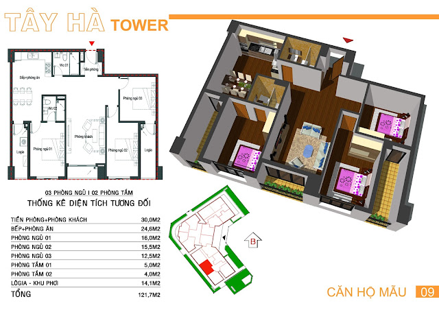 Căn 09 Tây hà tower