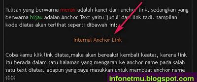 Membuat anchor link satu halaman
