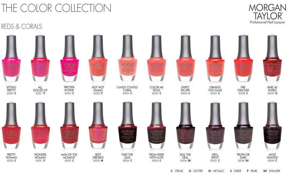 Betty Nails: Morgan Taylor Color Chart