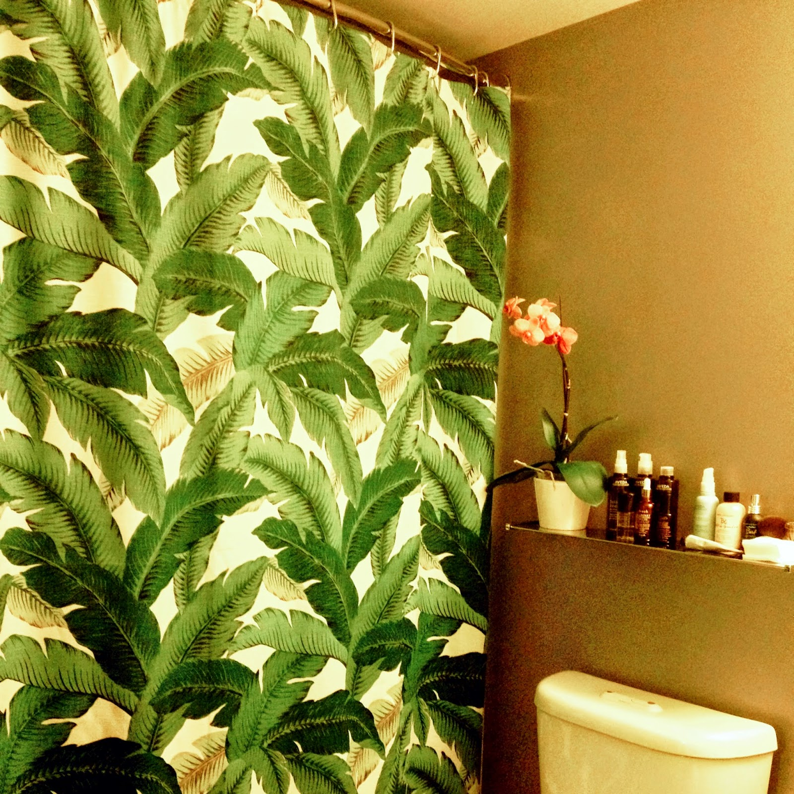 Tommy Bahama Swaying Palms Shower Curtain Magenta & Green