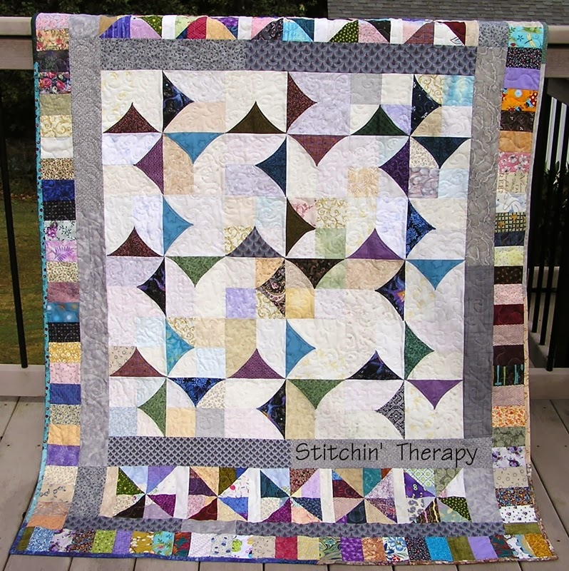 Stitchin' Therapy: January 2014 : multiple quilt borders - Adamdwight.com
