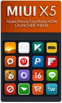 MIUI X5 HD Apex/Nova/ADW Them android apk - Screenshoot