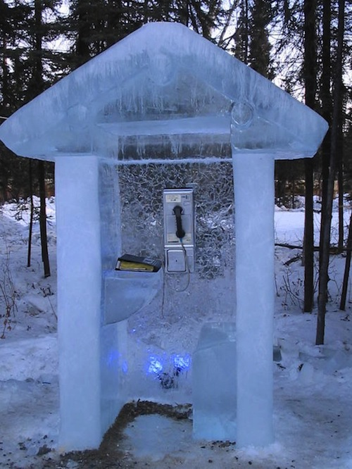 Ice Alaska Phone Booth