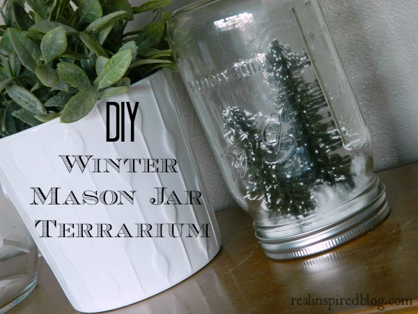 DIY Winter Mason Jar Terrarium