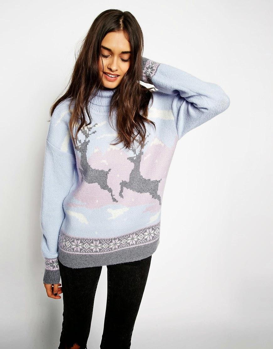 asos christmas reindeer jumper