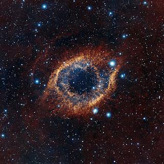 Туманность Улитка в созвездии Водолея