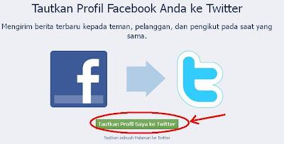 Buka Facebook for Twitter di http://www.facebook.com/twitter/ Klik
