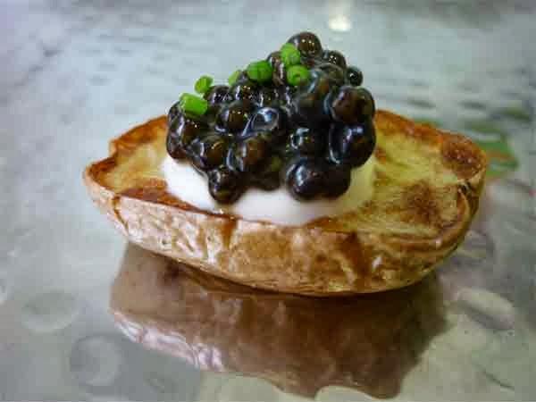 receta canapé de caviar