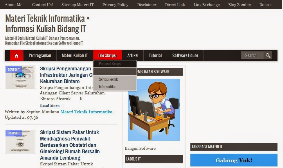 Download Skripsi Teknik Informatika Full Gratis