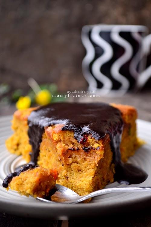Carrot Cake dengan Chocolate Fudge